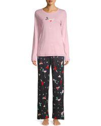 Hue - Two-piece Holiday Sparkler Pajama Set - Lyst