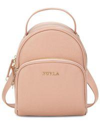 Furla - Mini Leather Backpack - Lyst