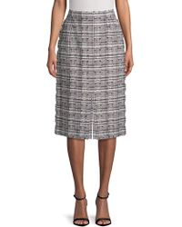 ESCADA - Distressed Printed Skirt - Lyst