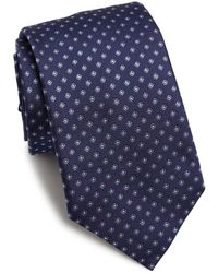 Eton of Sweden - Floral Embroidered Silk Tie - Lyst