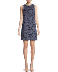 Julia Jordan - Embroidered Sleeveless Dress - Lyst