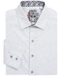 Robert Graham - Embroidered Cotton Button-down Shirt - Lyst