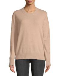 Vince - Silk Crewneck Sweater - Lyst