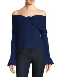 Ella Moss - Jasinda Off-the-shoulder Ribbed Sweater - Lyst