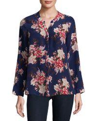 28447797d9f689 Joie - Devitri Floral Long-sleeve Silk Blouse - Lyst