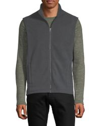 Saks Fifth Avenue - Polar Fleece Vest - Lyst