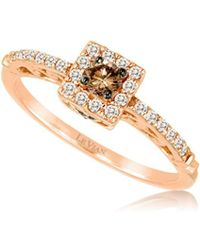 Le Vian - 14k Strawberry Gold Vanilla Diamonds And Chocolate Diamonds Chocolatier® Square Ring - Lyst