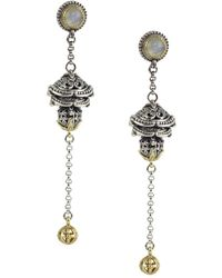 Konstantino - Erato Labradorite, 18k Yellow Gold And Sterling Silver Dangle Earrings - Lyst