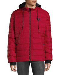 True Religion - Hooded Puffer Jacket - Lyst