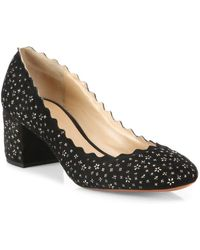 Chloé - Scalloped Embellished Court Shoes - Lyst