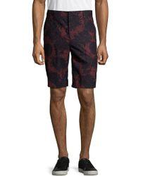 Vince - Tropical Leaf Cotton Shorts - Lyst