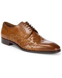 Massimo Matteo - Woven Leather Blucher Dress Shoes - Lyst