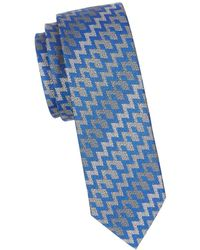 Missoni - Zig-zag Stripe Silk Tie - Lyst