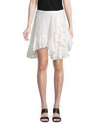 Love Sam - Lace Cotton Asymmetrical Skirt - Lyst
