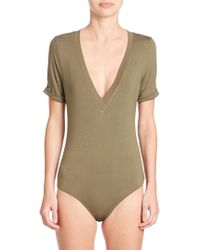 Free People - Me Oh My V-neck Bodysuit - Lyst