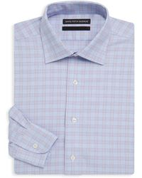 Saks Fifth Avenue Black - Checkered Cotton Dress Shirt - Lyst