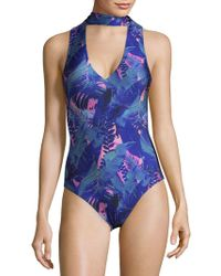 We Are Handsome - Tropical One-piece Swimsuit - Lyst