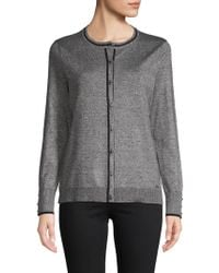 Calvin Klein - Heathered Long-sleeve Cardigan - Lyst