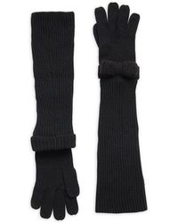 RED Valentino - Knit Gloves & Bow Protective Arm Sleeves Set - Lyst