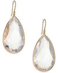 Ippolita - Rock Candy 18k Yellow Gold & Clear Quartz Large Pear Drop Earrings - Lyst
