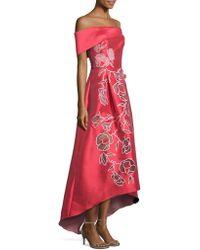 Sachin & Babi - Michelle Off-the-shoulder Floral Applique Gown - Lyst