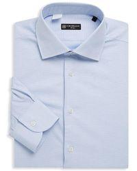 Corneliani - Printed Cotton Dress Shirt - Lyst