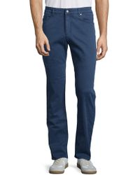 Bugatchi - Solid Cotton-blend Chino Trousers - Lyst