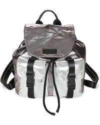 Kendall + Kylie - Metallic Colorblock Backpack - Lyst