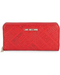 Love Moschino - Faux Leather Logo Continental Zip-around Wallet - Lyst