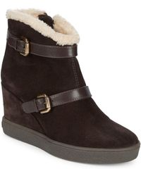 Aquatalia - Christy Faux Fur-trimmed Booties - Lyst