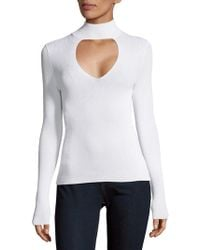 360cashmere - Keyhole Front Sweater - Lyst