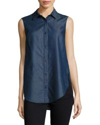 French Connection - Chambray Top - Lyst