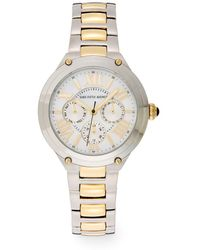 Saks Fifth Avenue - Stainless Steel & Goldtone Ip Chronograph Dial Watch - Lyst