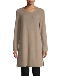 Eileen Fisher - Cashmere Tunic Sweater - Lyst