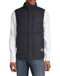 Scotch & Soda - Quilted High Neck Vest - Lyst