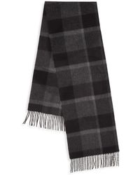 Saks Fifth Avenue - Boxed Plaid Cashmere Scarf - Lyst