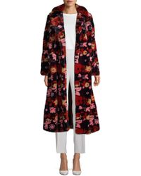 Anna Sui - Open-front Faux Fur Coat - Lyst