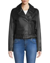 7 For All Mankind - Leather Moto Jacket - Lyst