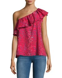 French Connection - Printed Asymmetric Top - Lyst