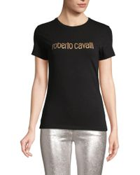 Roberto Cavalli - Logo Graphic Stretch Tee - Lyst