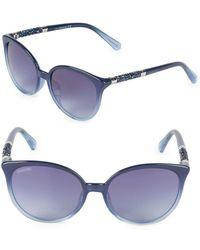 Swarovski - 56mm Crystal Square Sunglasses - Lyst