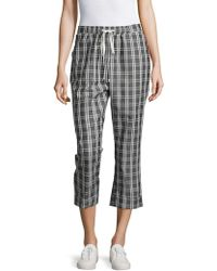 MINKPINK - Checked Cropped Pants - Lyst