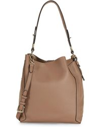 Vince Camuto - Small Grained Leather Hobo Bag - Lyst