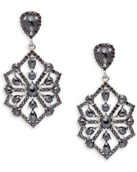 Bavna - Black Spinel And Sterling Silver Drop Earrings - Lyst