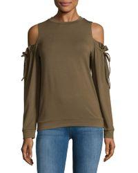 Lea & Viola - Cold Shoulder Sweatshirt - Lyst