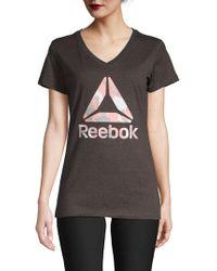 Reebok - Camo Logo Tee - Lyst