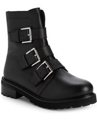 Seychelles - Obedience Leather Buckle Combat Boots - Lyst