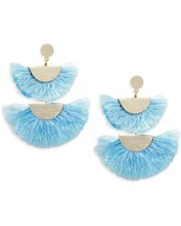 Panacea - Double Fan Statement Earrings - Lyst