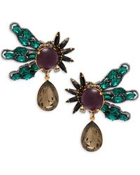 Tataborello - Crystal Studded Earrings - Lyst