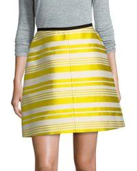 RED Valentino   Striped Skirt   Lyst